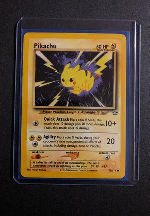 Pikachu 70/111 Neo Genesis BASE SET ORIGINAL Pokemon Card for Sale in Medford, MA