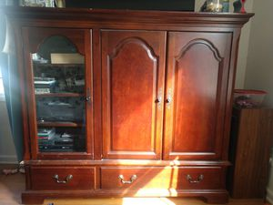 Cherry entertainment stand. for Sale in Grove City, OH