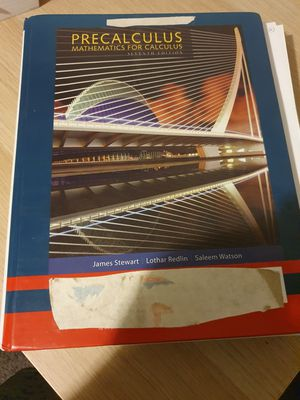 Precalculus Mathematics for Calculus 7th edition for Sale in Penn Hills, PA