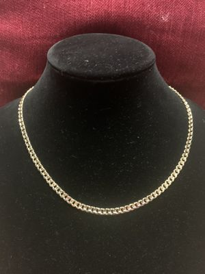 "Men's 7mm Concave Cuban link Chain Necklace 14k Gold Plated 20"" inch for Sale in Raleigh, NC"