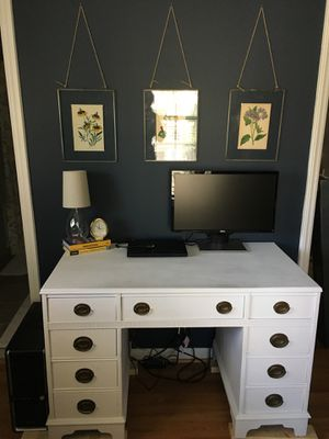 Antique chalk painted desk for Sale in North Bethesda, MD