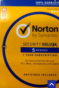 Norton by Symantec Security Deluxe - 5 Devices for Sale in Orlando,  FL