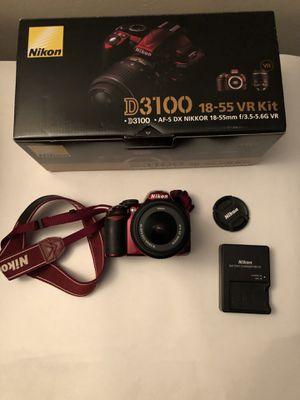 Nikon D3100 DSLR with 18-55 lens for Sale in Gaithersburg, MD