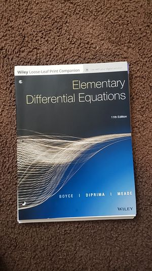 Differential Equation Textbook for Sale in Tempe, AZ