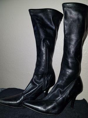 Black boots calf high for Sale in Orlando, FL