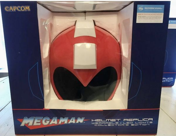Mega man Helmet Replica 1:1 2016 SDCC Limited Edition (Red) Light Up Cosplay