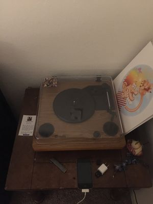 Record Player + Albums for Sale in Alexandria, LA