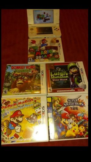 The new 3ds with games for Sale in San Marcos, CA