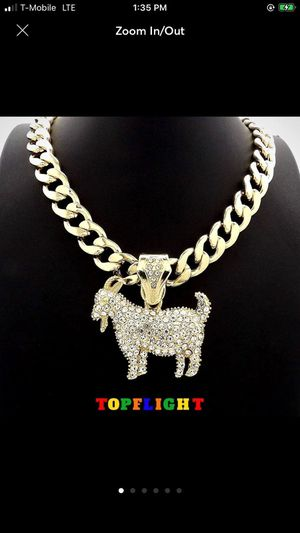 VS1 GOAT Gold Cuban 11mm Pendant Chain for Sale in Washington, DC