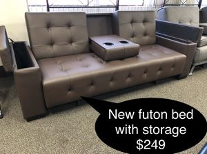 Brand new Futon bed with storage for Sale in Fresno, CA