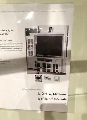 Four piece 63 inch entertainment wall unit for Sale in Modesto, CA