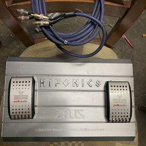 Hifonics Zeus 800 Watt Amp with Extras for Sale in Brisbane, CA