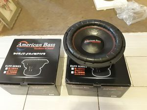 2 15's American bass subwoofers for Sale in Dinuba, CA