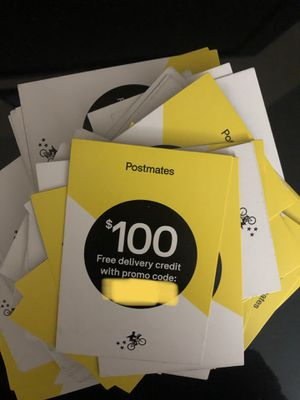 Postmates 100$ codes for Sale in NEW PRT RCHY, FL