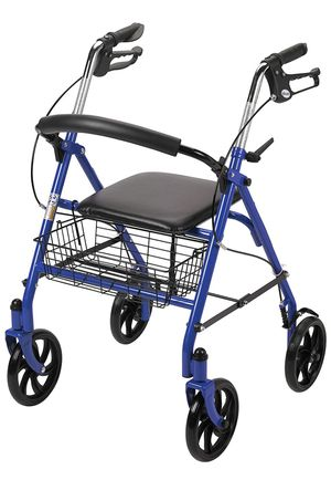 Drive Medical Four Wheel Walker Rollator with Fold Up Removable Back Support for Sale in Whittier, CA