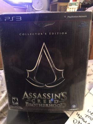 Assassins creed brotherhood special edition with joker never opened except for pics very rare only made so many !! for Sale in Salem, MA
