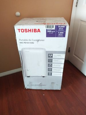 AC PORTABLE TOSHIBA 8,OOO BTU COMES WITH EXHAUST TUBE AND WINDOW KIT,IS TOUCH SCREEN WORKS GREAT,FOR ANY QUESTION TEXT ME PLEASE. for Sale in Los Angeles, CA