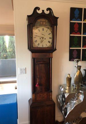 Antique Scottish Mahogany Grandfather Clock Circa 1810 for Sale in Los Angeles, CA