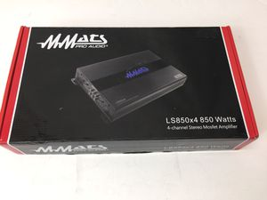 MMATS Pro Audio LS850X4 850 Watts 4-Channel Stereo Mosfet Amplifier (MXP014978) for Sale in Lakeland, FL