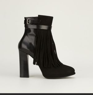Ankle boot. Fringe leather/suede by Hoss Intropia. Size 7 for Sale in Chicago, IL
