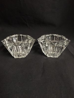 Pair (2) clear glass votive candle holders for Sale in El Mirage, AZ
