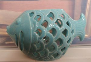 Ceramic Tealight Fish for Sale in Sanger, CA