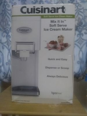 CUISINART Soft Serve Ice Cream Maker for Sale in San Angelo, TX