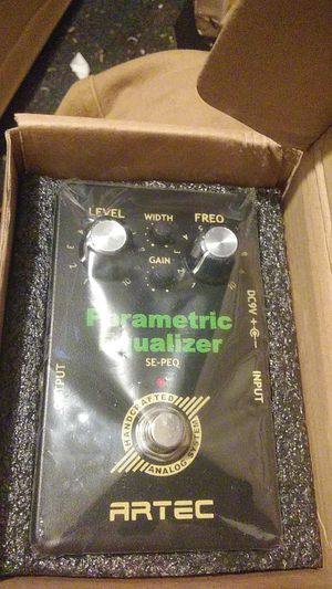 [FX PEDALS] ARTEC PARAMETRIC EQUALIZER! BRAND NEW! OPERATES IN MID Q FIELDS, PERFECT FOR GUITAR! for Sale in Turlock, CA