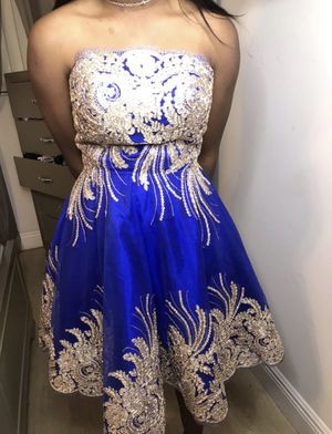 Gold and Blue Tutu Formal Dress for Sale in Miami, FL
