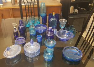 Blue Glass Collection for Sale in Brandon, FL