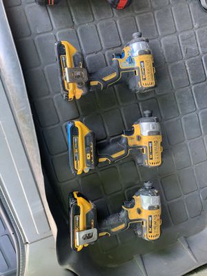 Dewalt impact drill 1/4 drive 20v battery for Sale in Seattle, WA