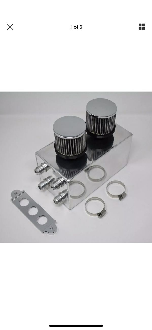Pro Series Oil Catch Can For Honda Civic Acura Integra 4 Port -10AN Silver 🇺🇸