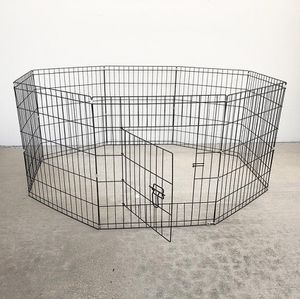 """(NEW) $30 Foldable 24"""" Tall x 24"""" Wide x 8-Panel Pet Playpen Dog Crate Metal Fence Exercise Cage for Sale in South El Monte, CA"""