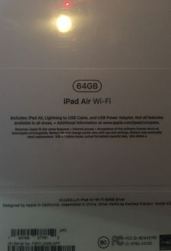 Apple iPad Air 64g silver, factory sealed with pencil for Sale in San Jose,  CA