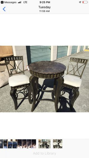 Bar table with two chairs for Sale in Stone Mountain, GA