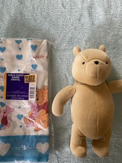 Winnie The Pooh Bear And Table Cover for Sale in La Puente,  CA