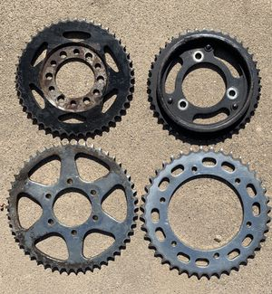 Qty. 4 Honda motorcycle ATC ATV rear sprockets, 40t, 43t, c45, 50 tooth for Sale in Carlsbad, CA