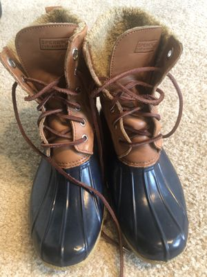 USED SPERRY rain boots, Size 8 for Sale in Alexandria, VA