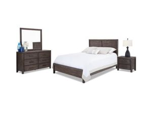 Queen Bedroom Set - OWNED 2 MONTHS - comes with 2 side tables (same as the one pictured) for Sale in Boston, MA