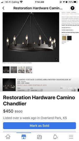 NEW Restoration Hardware Camino chandelier for Sale in Overland Park, KS