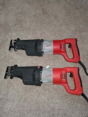 Sawzalls Milwaukee hevy duty son los grandes for Sale in Springfield, VA
