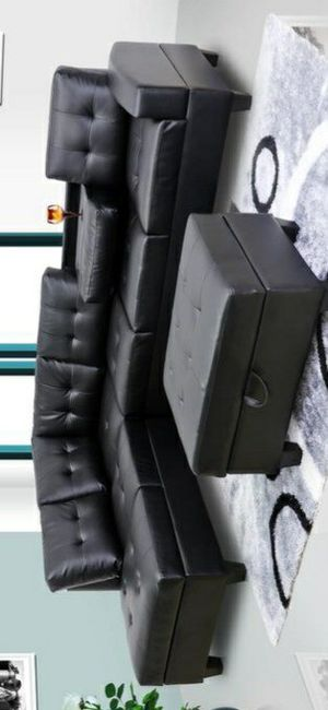 🍀Best Deals [SPECIAL] Pablo Black Sectional | U5400 for Sale in Columbia, MD