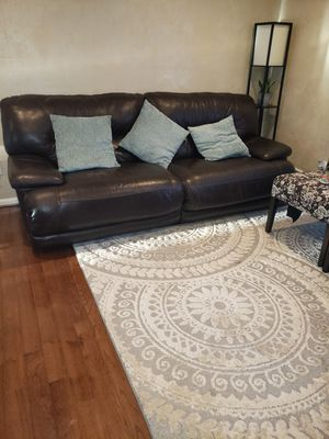 Reclining Leather Sofa and Loveseat for Sale in Fairfax, VA