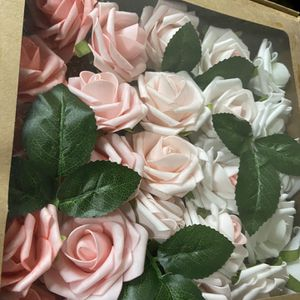 25 Stems Artificial Foam Roses / Valentines/Wedding /mothers Day for Sale in Grand Prairie, TX