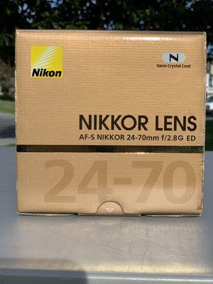 Nikon lense 24-70 2.8 for Sale in San Diego, CA