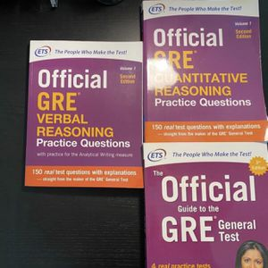 Official GRE Book Set for Sale in Peoria, IL