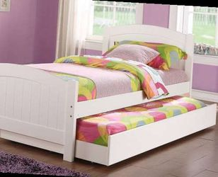 Twin bed frame with trundle. Low inventory. Visit us. for Sale in Ontario,  CA