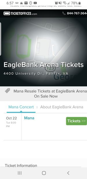 Mana Concert tickets for Sale in Annandale, VA
