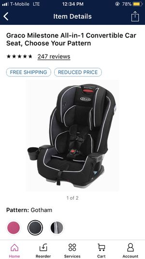 Graco Milestone 3-1 car seat 5lb - 100 $90 for Sale in Las Vegas, NV