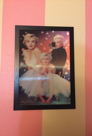 Large Marilyn Monroe 3D Photo Frame for Sale in Hesperia, CA
